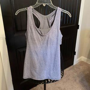 Lululemon | Sports Bra/Shirt | Gray | 8 | EUC